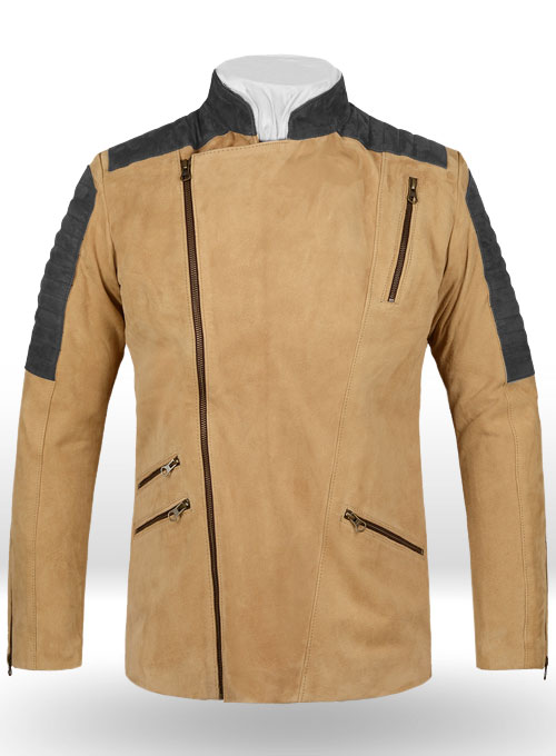 Latte Beige Suede Leather Jacket # 647