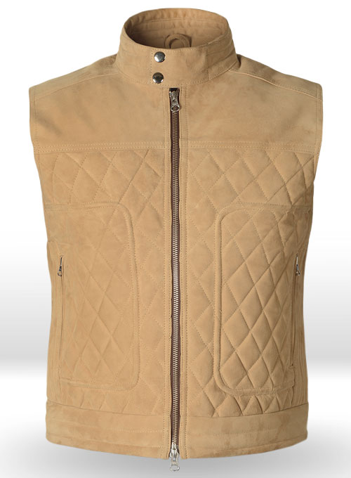 Latte Beige Suede Leather Vest # 324
