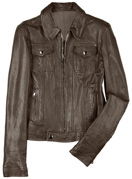 Leather Bomber Jacket - #9 - 50 Colors