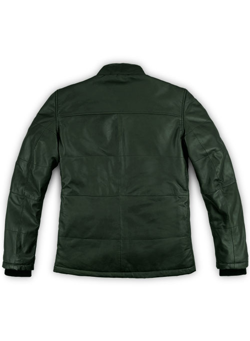 Soft Deep Olive Leather Jacket # 1000 - Click Image to Close