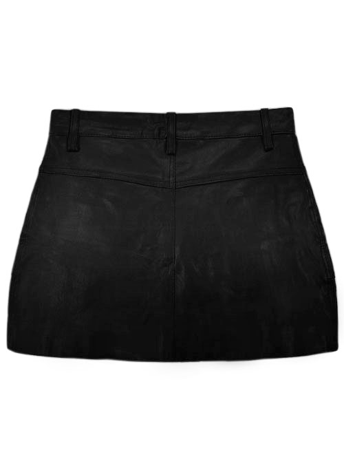 Leather Mini Skirt with Pockets - S Mini