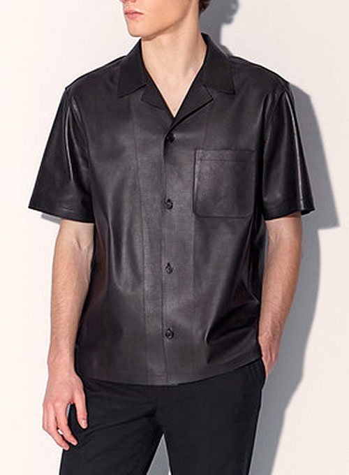 Leather Shirt Half Sleeves #1 - Click Image to Close
