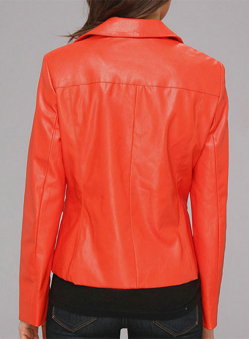 Leather Biker Jacket # 530 - Click Image to Close