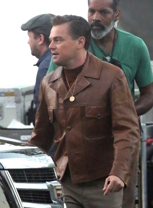 Leonardo DiCaprio Once Upon a Time in Hollywood Leather Jacket - Click Image to Close