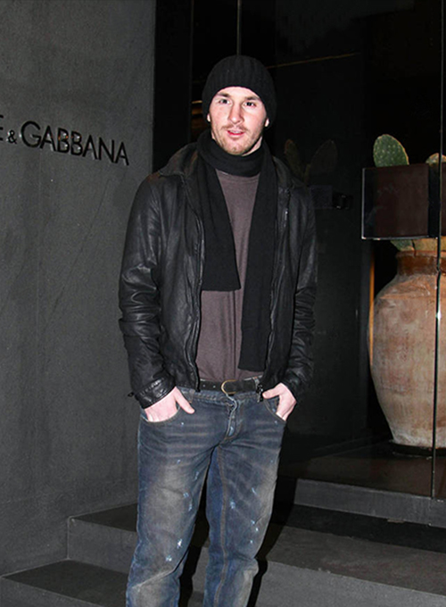 Lionel Messi Leather Jacket #2