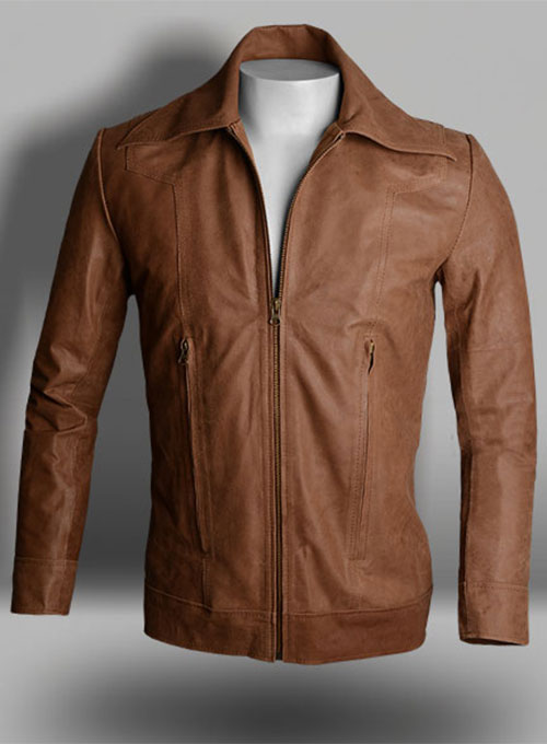 Lt Tan Hide X Men Days of Future Past Leather Jacket