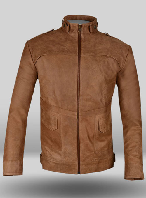 Light Tan Hide Leather Jacket # 602
