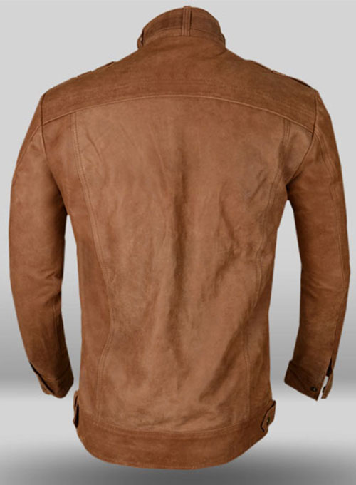Light Tan Hide Leather Jacket # 602 - Click Image to Close