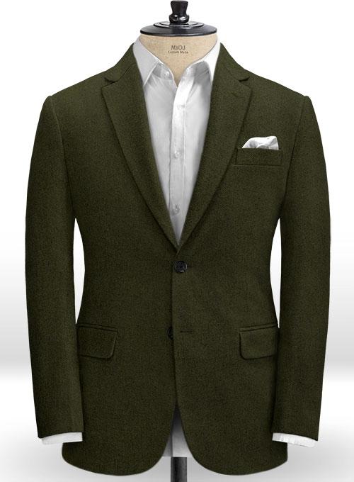 Light Weight Dark Green Tweed Jacket Makeyourownjeans