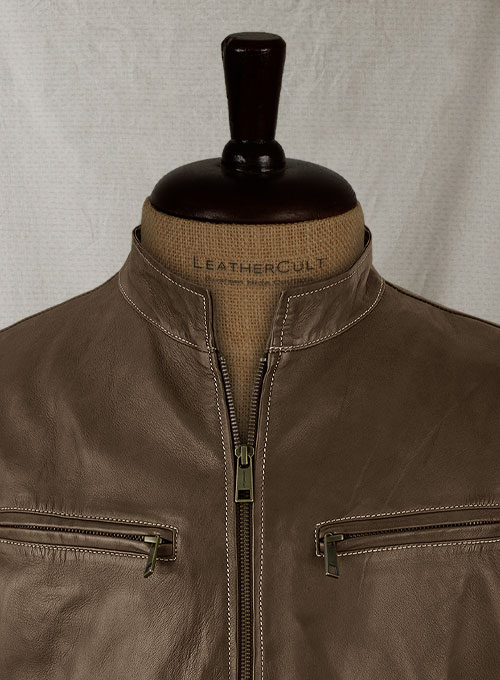 Soft Scottish Brown Washed & Wax Martin Lawrence Leather Jacket - Click Image to Close