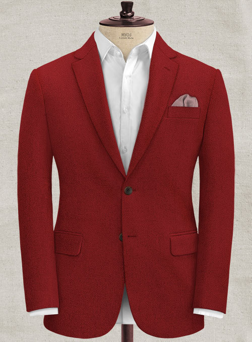 Melange Titan Red Tweed Jacket Makeyourownjeans 174 Made