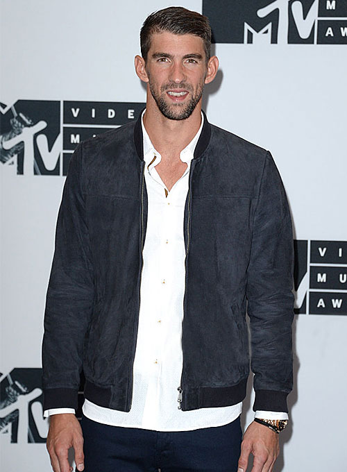 Michael Phelps MTV Video Music Awards Leather Jacket