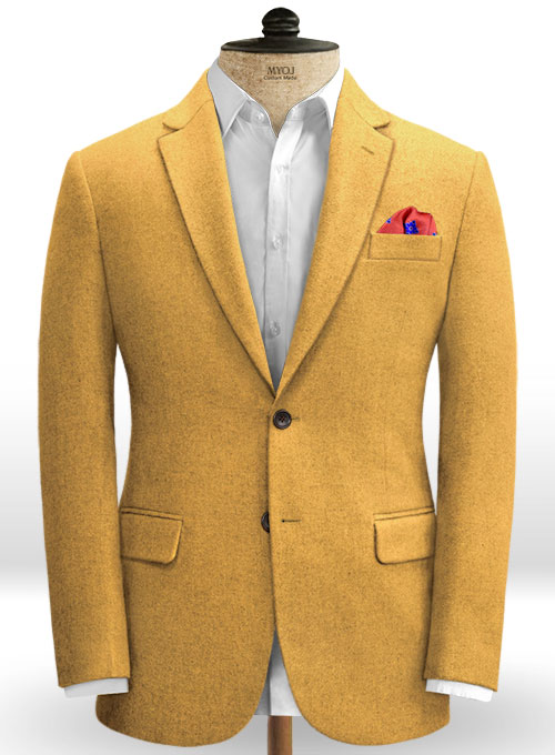 Naples Yellow Tweed Jacket