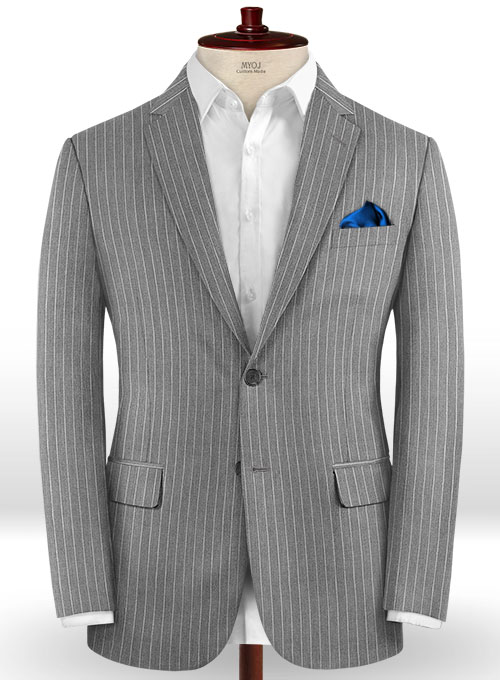 Napolean Stripo Gray Wool Jacket