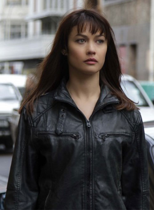 Olga Kurylenko Momentum Leather Jacket - Click Image to Close
