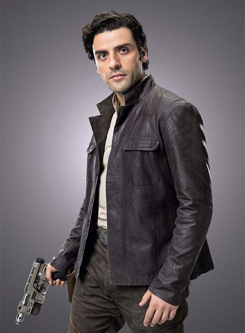 Oscar Isaac Star Wars: The Last Jedi Leather Jacket