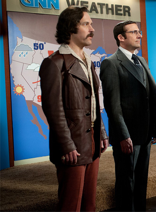 Paul Rudd Anchorman 2: The Legend Continues Leather Blazer