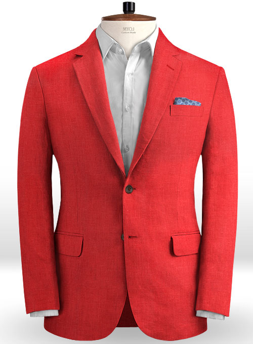 Pure Red Linen Jacket
