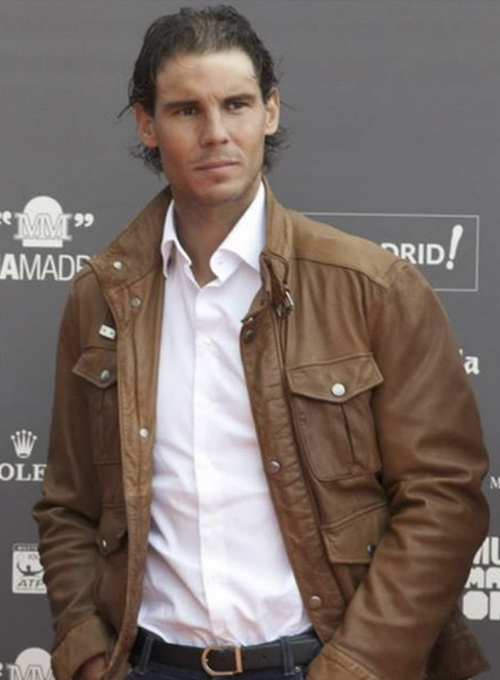 Rafael Nadal Leather Jacket - Click Image to Close