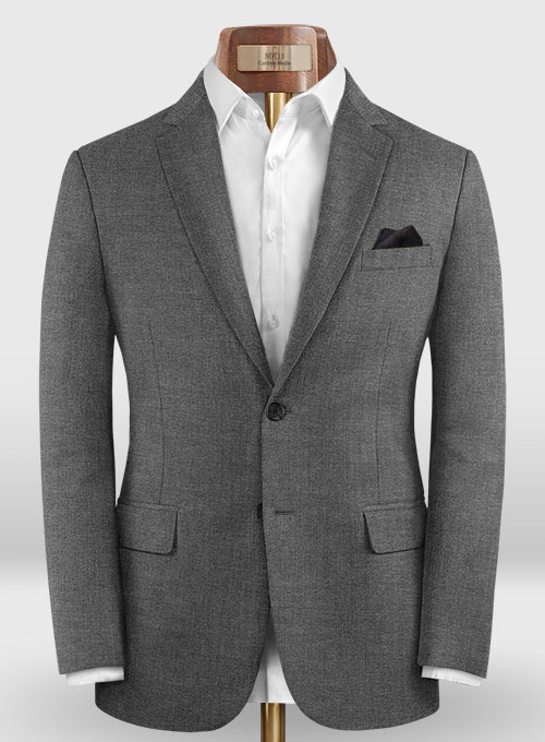 Reda Cashmere Mid Gray Wool Jacket