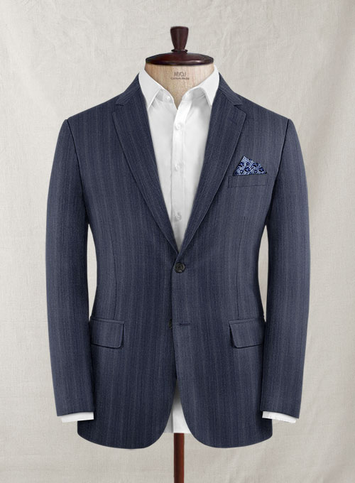 Reda Sotto Blue Wool Jacket
