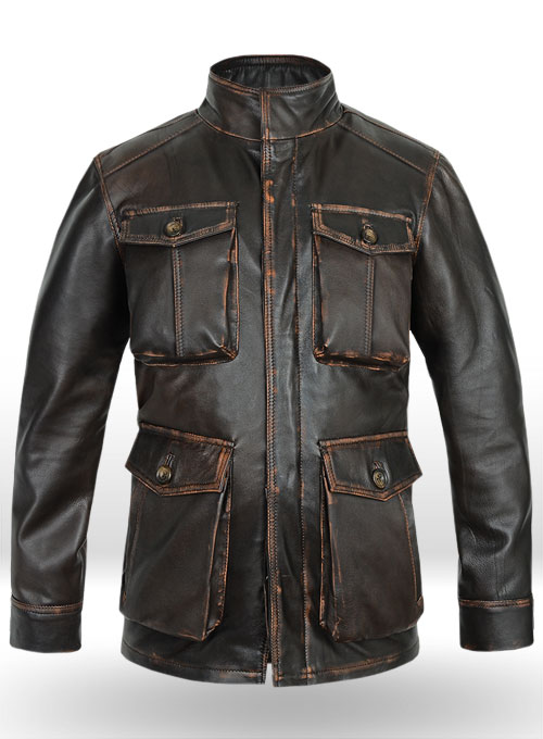 Rubbed Dark Brown Jensen Ross Supernatural 7 Leather Jacket
