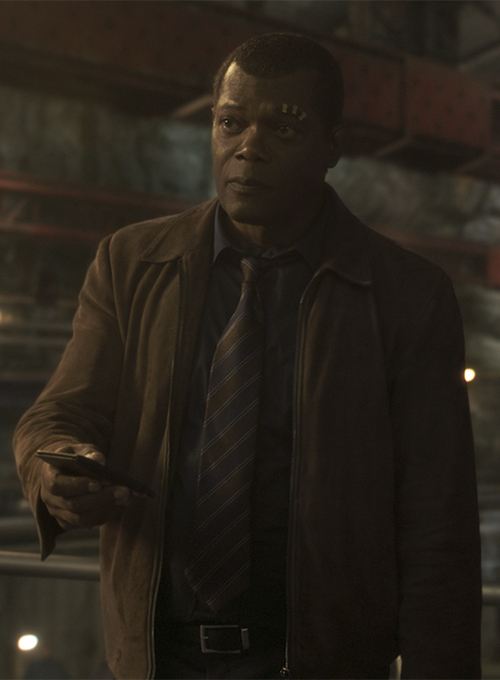 Samuel L. Jackson Captain Marvel Leather Jacket