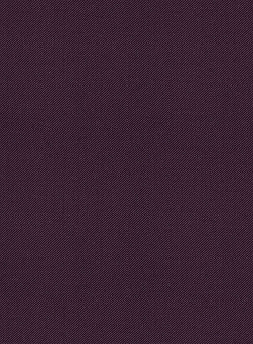 Scabal Dark Purple Wool Jacket - Click Image to Close