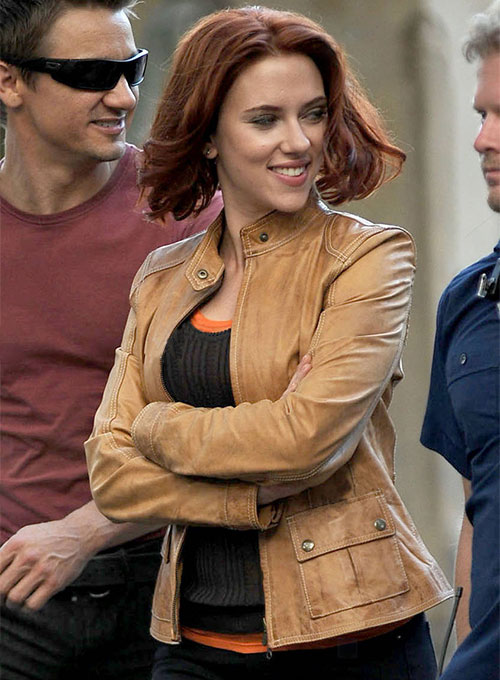 Scarlett Johansson The Avengers Leather Jacket