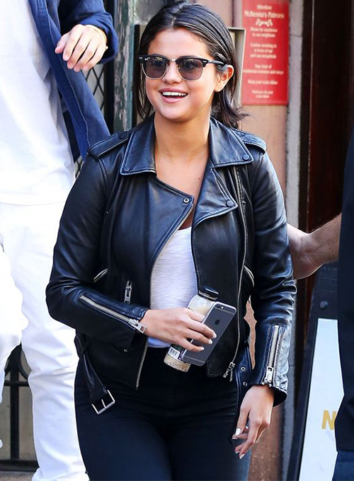 Selena Gomez New York Leather Jacket