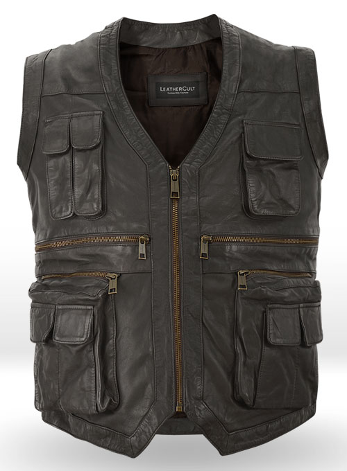 Soft Louis Brown Washed & Wax Chris Pratt Jurassic World Vest