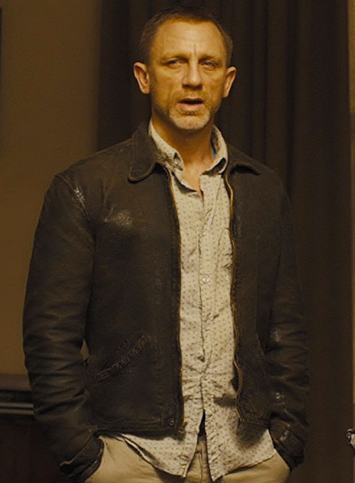 Daniel Craig Skyfall Leather Jacket Makeyourownjeans