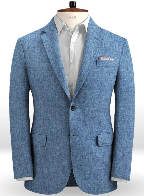 Solbiati Denim Light Blue Linen Jacket Makeyourownjeans
