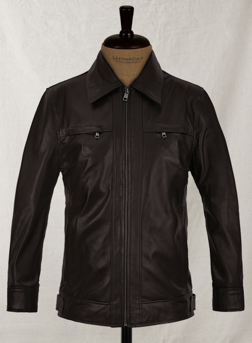Soft Dark Brown Don Cheadle Traitor Leather Jacket