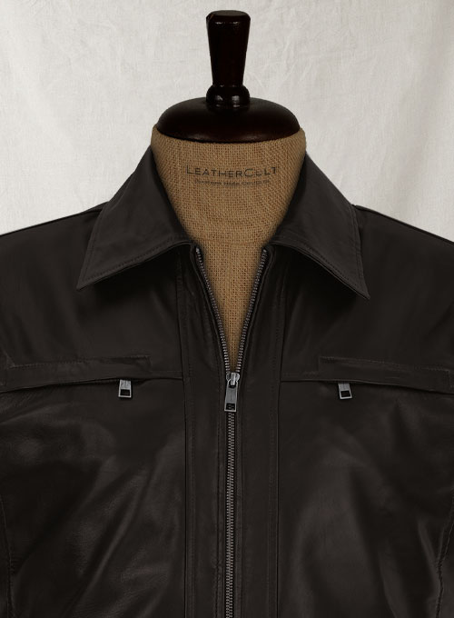 Soft Dark Brown Don Cheadle Traitor Leather Jacket - Click Image to Close