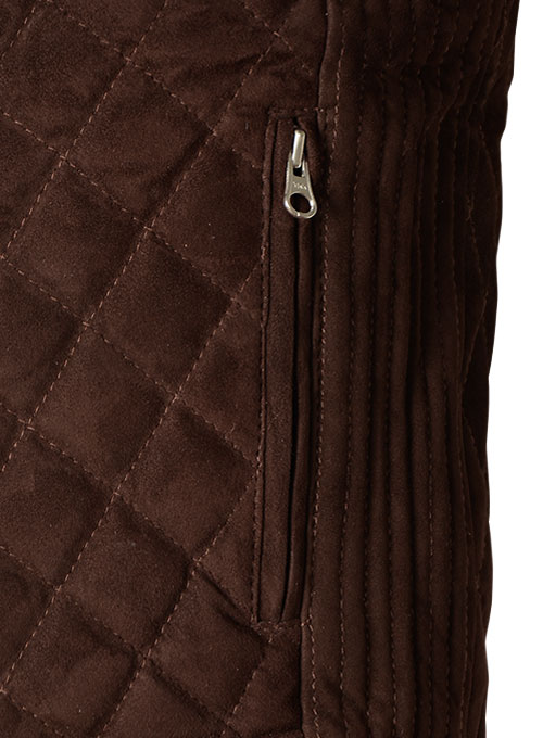 Soft Dark Brown Suede Leather Vest # 324