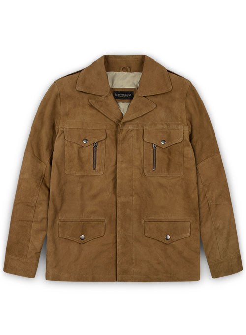 Soft Light Brown Suede Leather Jacket # 621