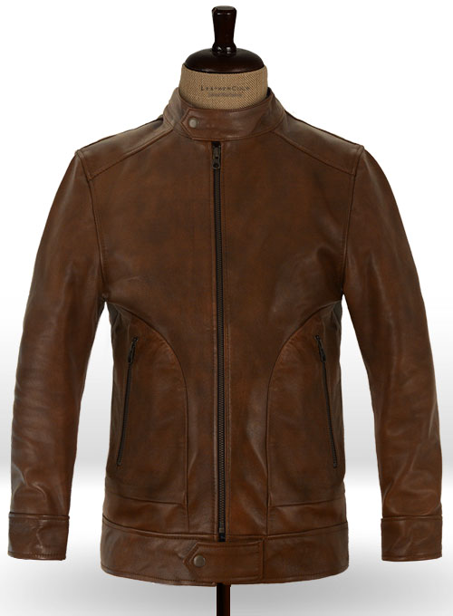 Spanish Brown Ryan Reynolds Blade Trinity Leather Jacket