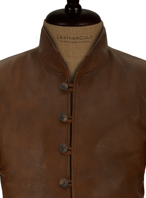 Spanish Brown Tom Riley Da Vinci's Demons Leather Jacket