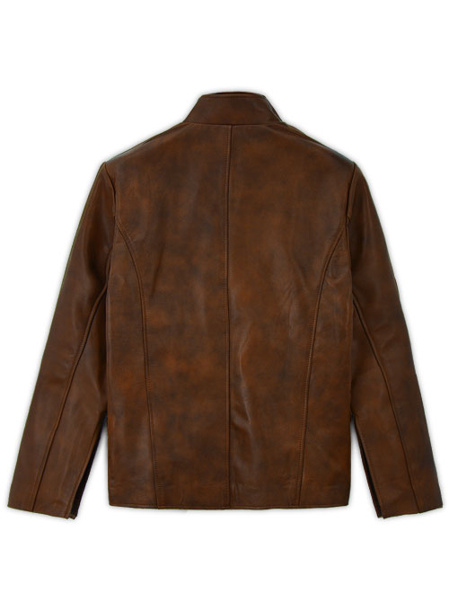 Spanish Brown Tom Riley Da Vinci's Demons Leather Jacket - Click Image to Close