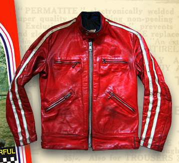 Leather Jacket Sportsman Stripe - 50 Colors