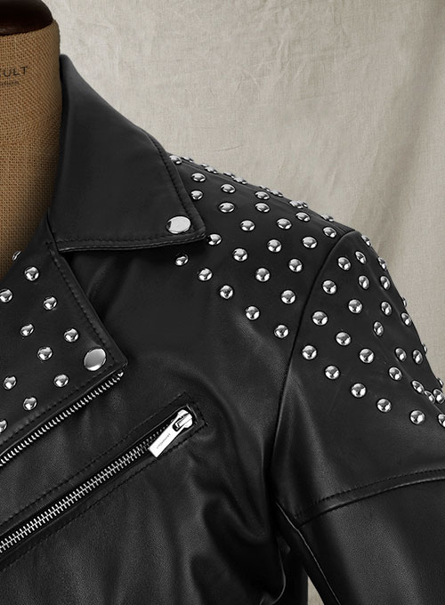 Studded Biker Leather Jacket