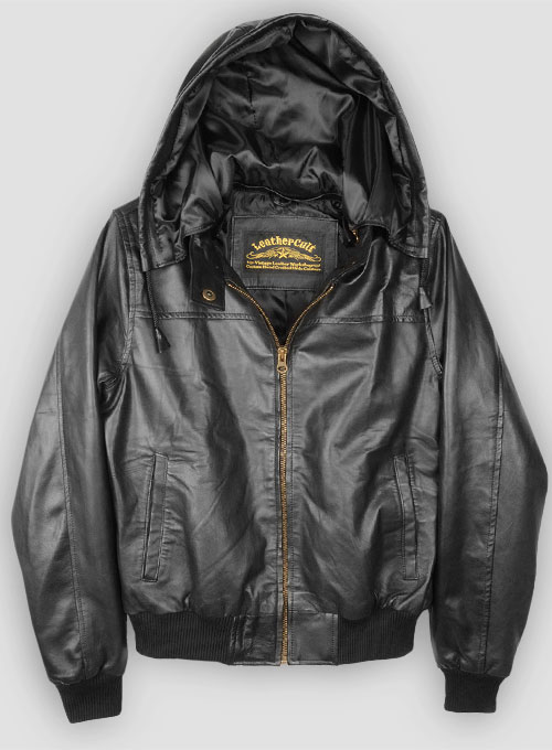 Symphony Detachable Hood Leather Jacket