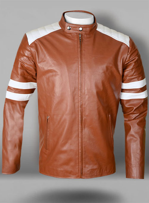 Tan Brown Fight Club Leather Jacket