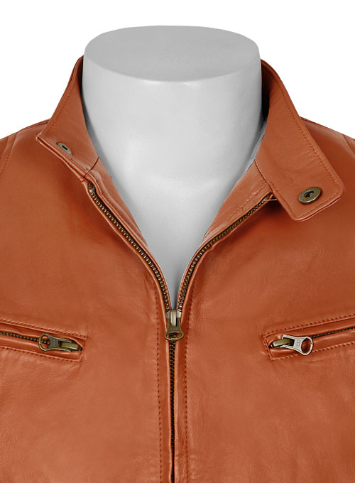 Terrain Brown Leather Jacket # 655 - Click Image to Close