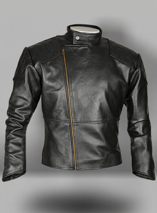 Thick Goat Black Leather Jacket # 614