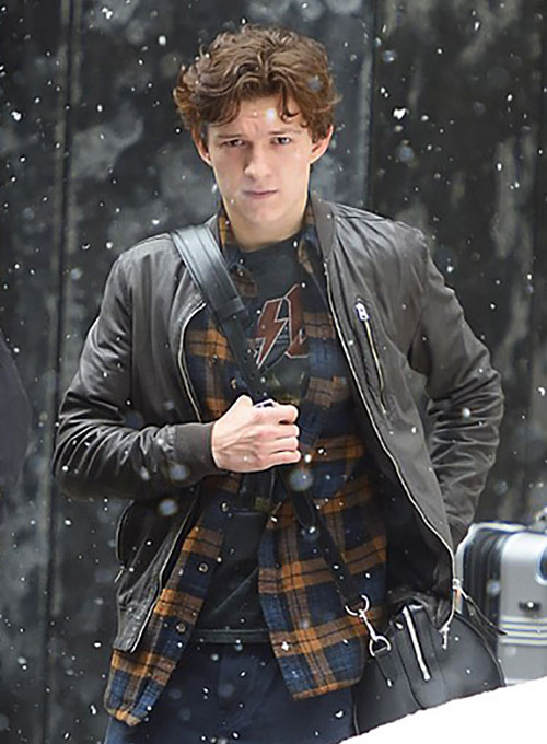 Tom Holland Leather Jacket Makeyourownjeans 174 Made To