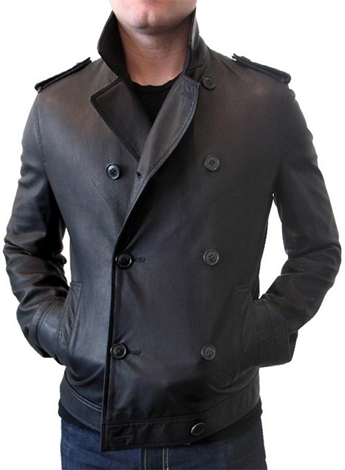 Short Trench Leather Jacket - 50 Colors