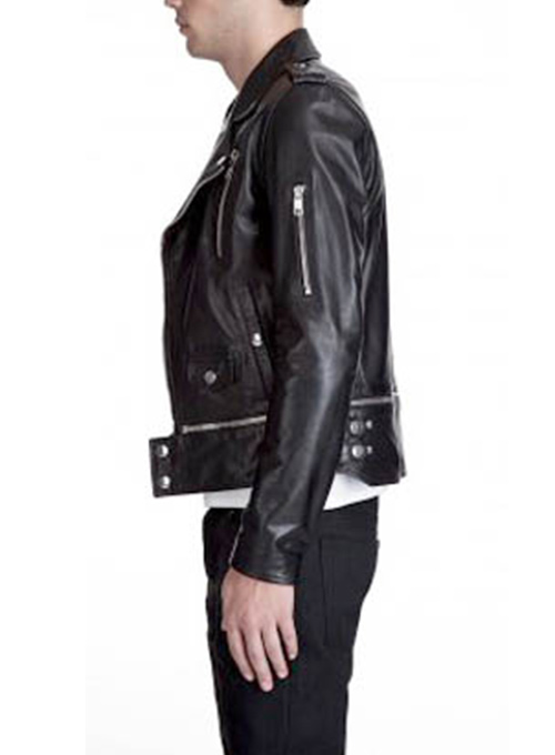 Trooper Biker Leather Jacket