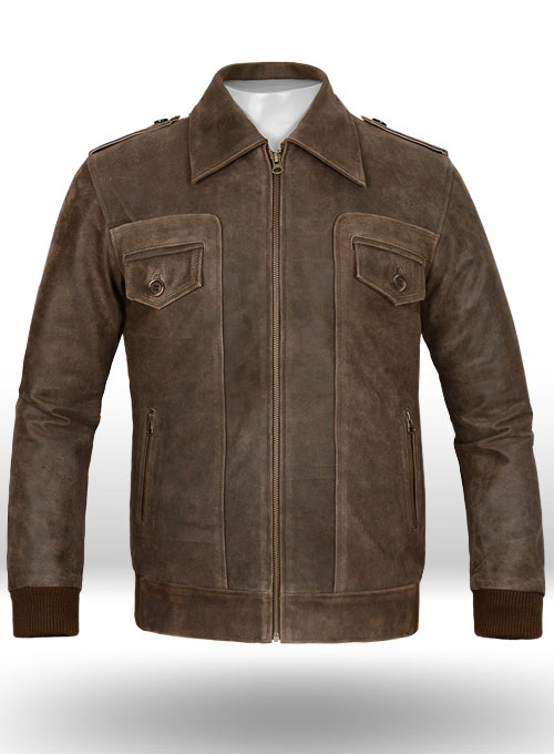 Vintage Brown Grain Avengers Steve Rogers Leather Jacket